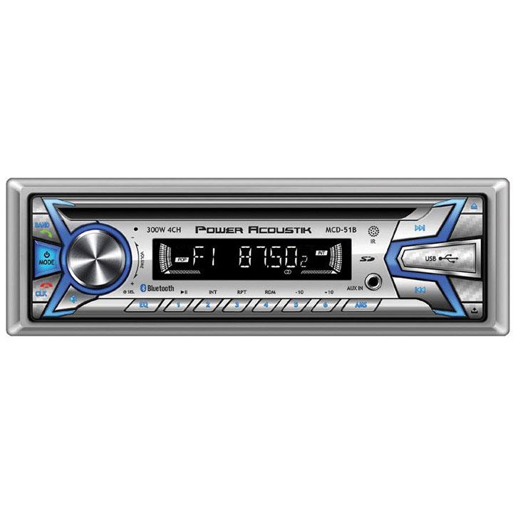Power Acoustik Marine CD/MP3 Receiver AM/FM USB Aux Bluetooth