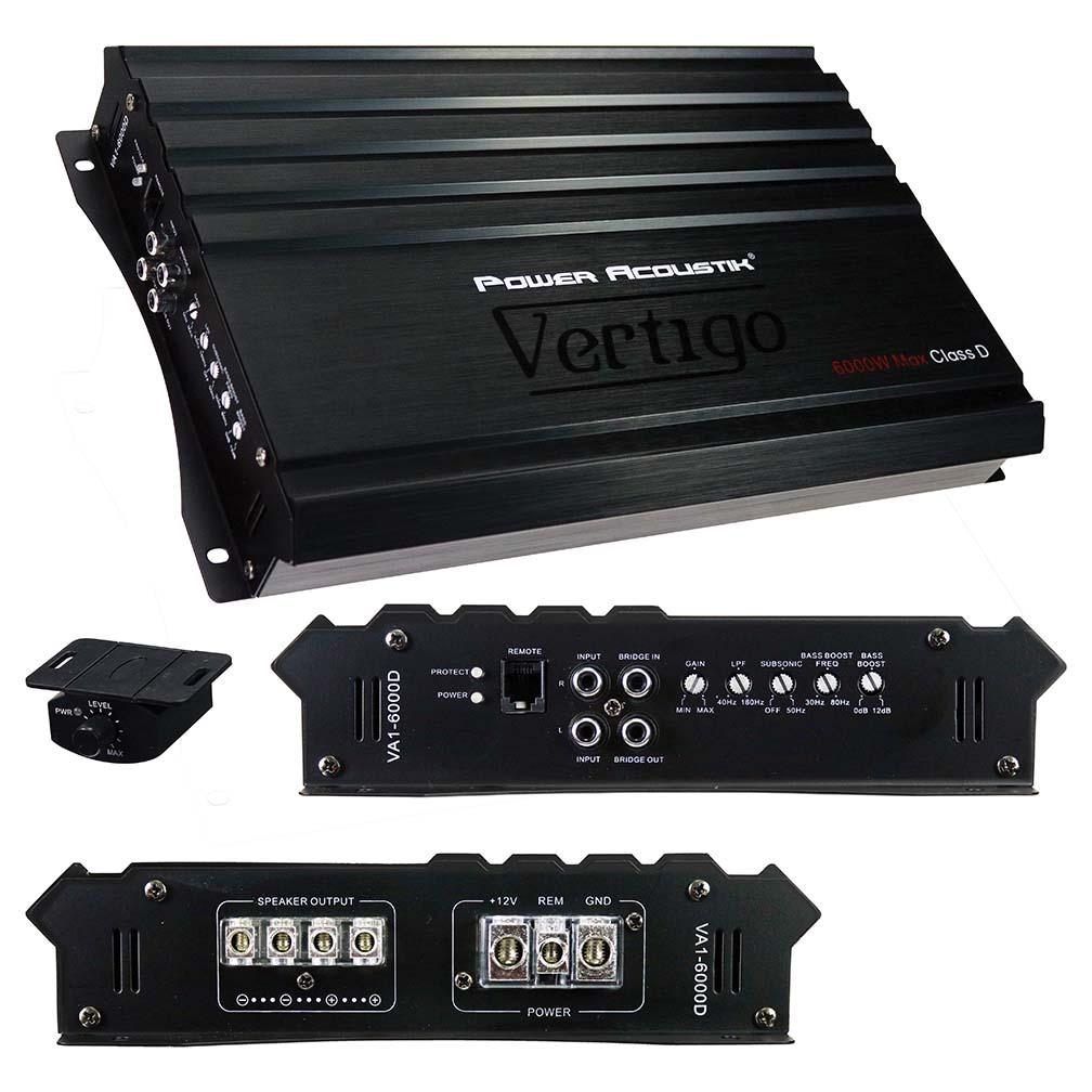Power Acoustik Vertigo Series Monoblock Amplifier 6000W Max