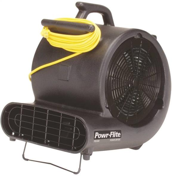 Powr-Flite PD500 Carpet Dryer/Air Blower, 4.8 A, Black