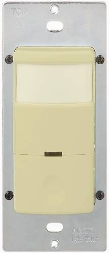 MOTION SENSOR, COMMERICAL GRADE, LIGHTS OFF & OCC & VACANT SLIDE, 120 VOLT, 800 WATT, IVORY