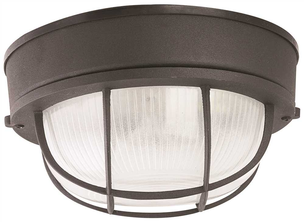 Deck Light Round Black