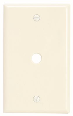 PREFERRED INDUSTRIES� 1-GANG TELEPHONE AND COAXIAL CABLE WALL PLATE, ALMOND