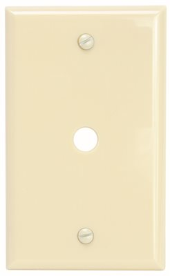 PREFERRED INDUSTRIES� 1-GANG TELEPHONE AND COAXIAL CABLE WALL PLATE, IVORY