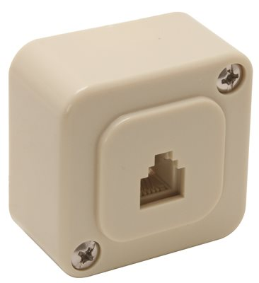 TELEPHONE SURFACE MOUNT JACK BEIGE