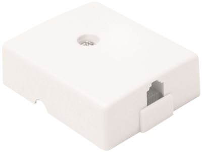 TELEPHONE SURFACE MOUNT JACK IVORY