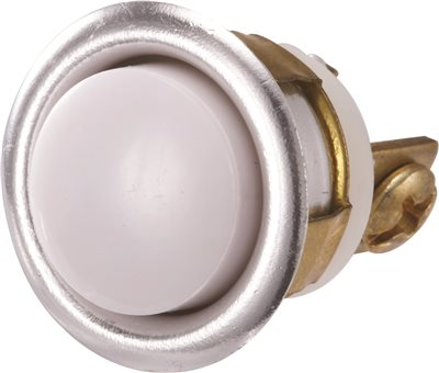 PUSH BUTTON UNLITED CHROME 5/8 IN.