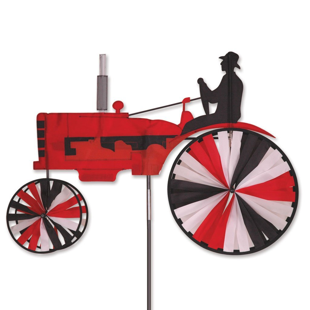"Modern Tractor Spinner Size: 12"", Color: Red"