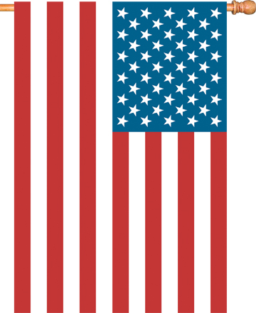 52611 House Applique Flag, USA Flag, 28 by 50-Inch