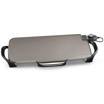 PRESTO 07062 CERAMIC 22IN GRIDDLE WITH REMOVABLE HANDLES