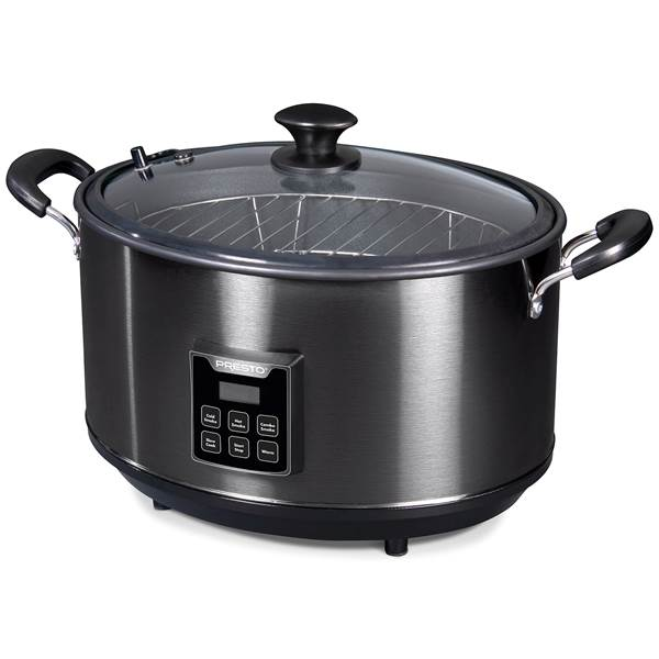 PRESTO 06013 INDOOR SMOKER AND SLOW COOKER 120 VOLTS AC AND