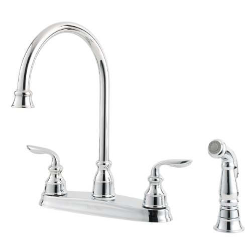 1.75 GPM Avalon 2-Handle Kitchen Faucet, Polished Chrome