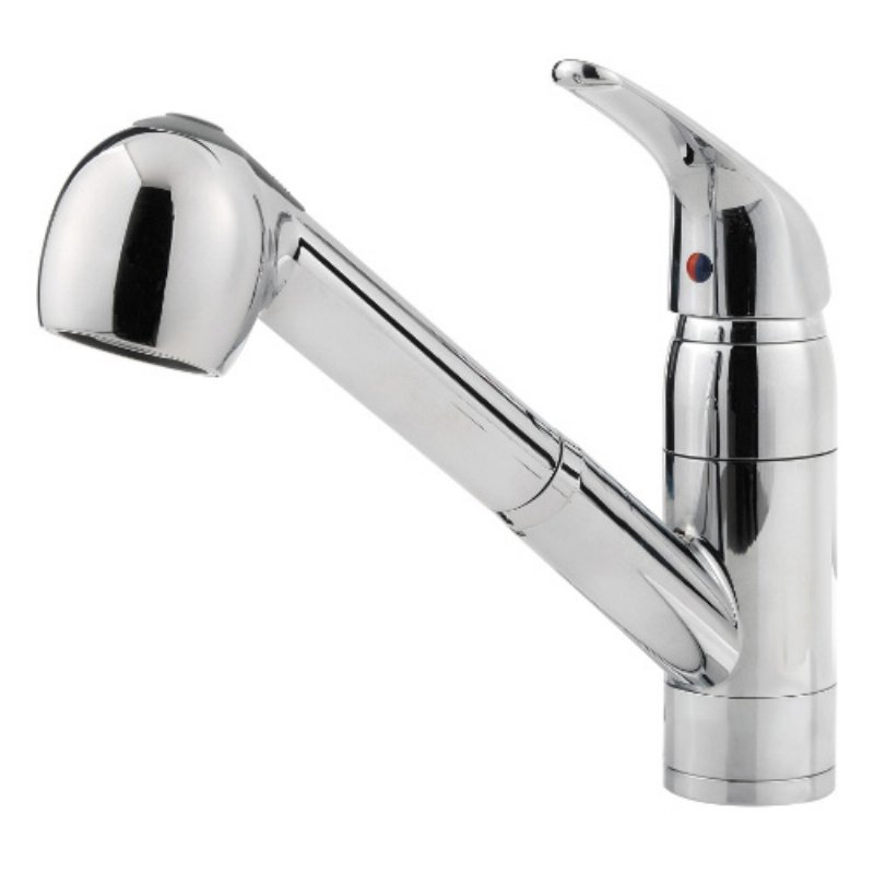 1.75 GPM Pfirst Series 1-Handle Pull-Out Kitchen Faucet, Polished Chrome