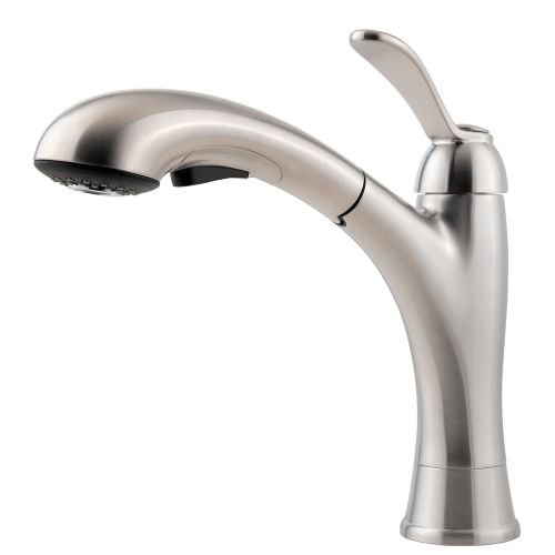 1.8 gpm Clairmont 1-Handle Pull-Out Kitchen Faucet, Stainless Steel