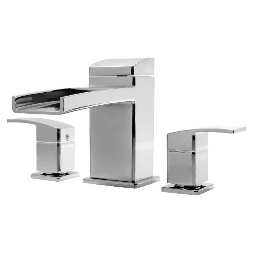 Kenzo 3-Hole Trough Roman Tub Trim Only, Polished Chrome