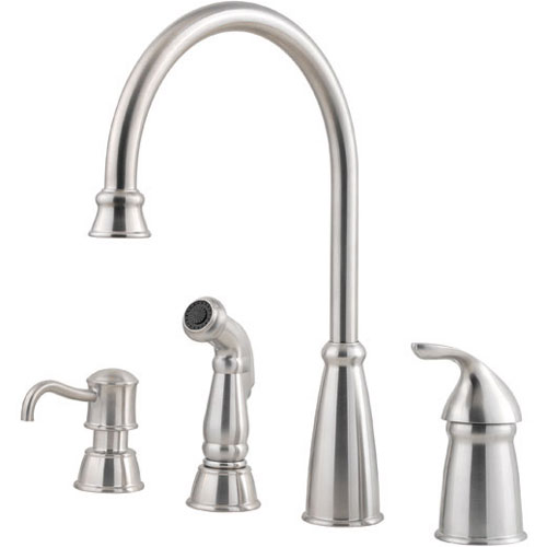 1.75 GPM Avalon 1-Handle Kitchen Faucet, Stainless Steel
