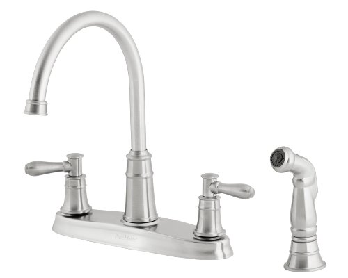 California Energy Commission Registered Lead Law Compliant 2 Handle 4 Hole Kitchen Faucet With Spray Stainless Steel