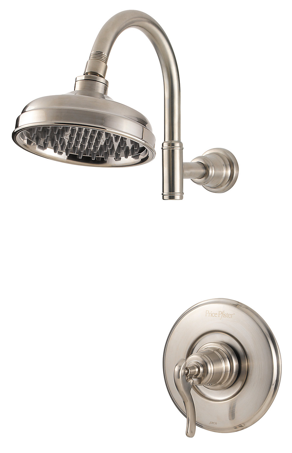 1 Handle Shower Trim Only Brushed Nickel Ashfield