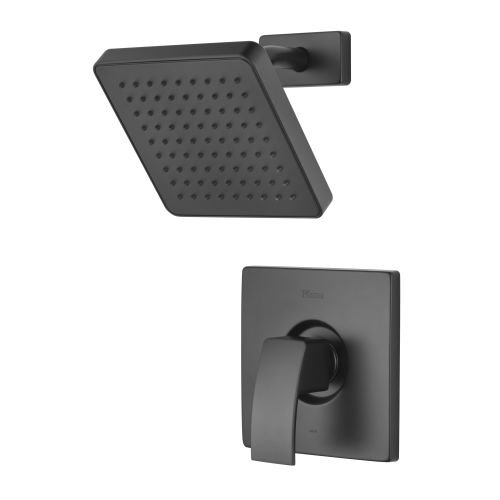 2.0 1 Handle Lever Pressure Balance Shower Trim Black