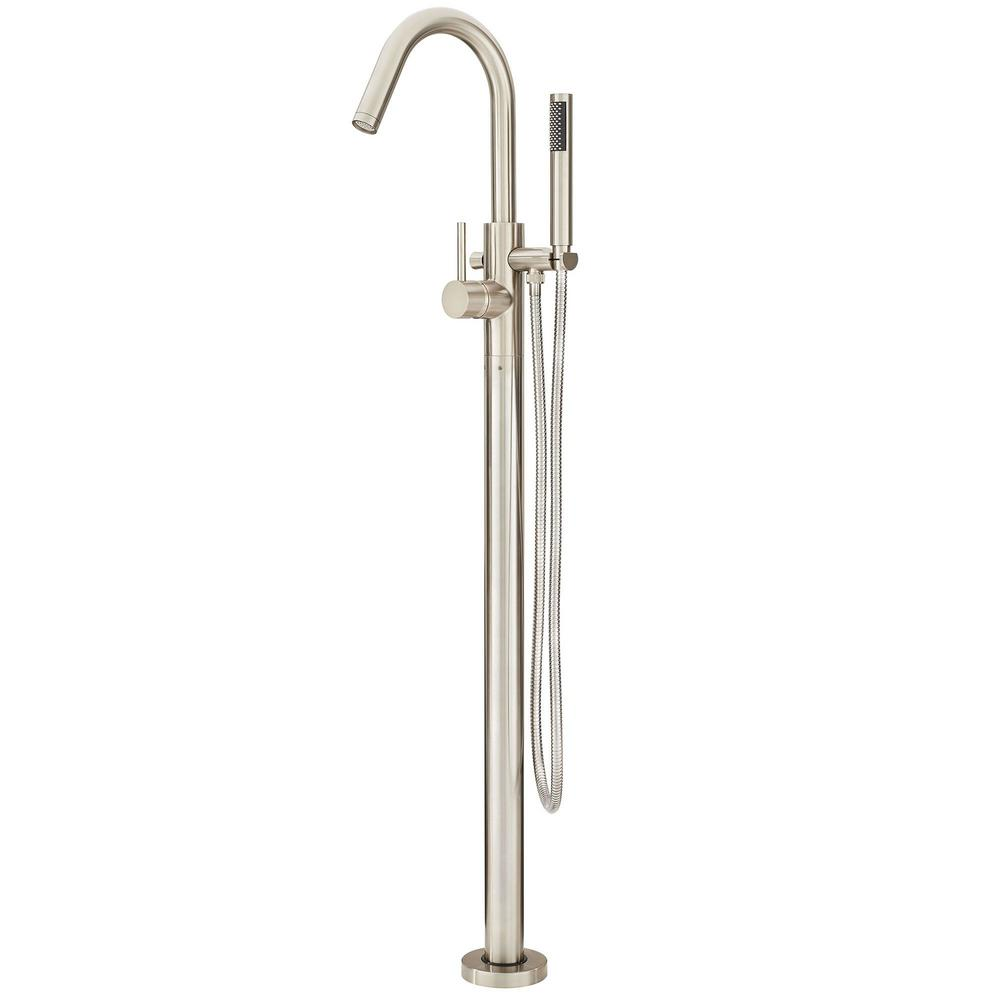 10.2 Gallons Per Minute FS Tub Filler With Hand Shower Brushed Nickel