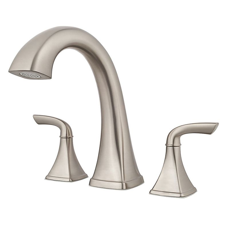 15-18 2 Handle Lever Roman Tub Faucet Brushed Nickel