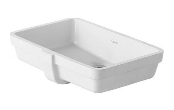 UNDERCOUNTER BASIN 480MM VERO WHITE WITH OF W/O TP