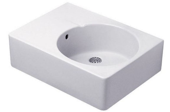 24-1/4 Countertop WASH BASIN 0 Hole White
