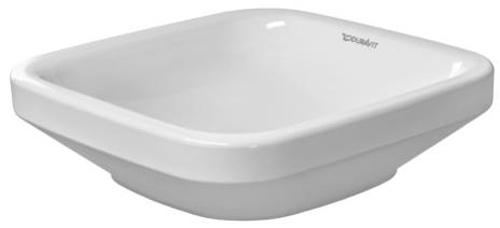 17 X 17 0 Hole Ceramic Countertop Lavatory *DURAST