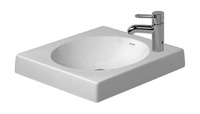 "Above counter basin 19 5/8"" Architec_ grinded_quadr._w/o ofl._ t.h. l."