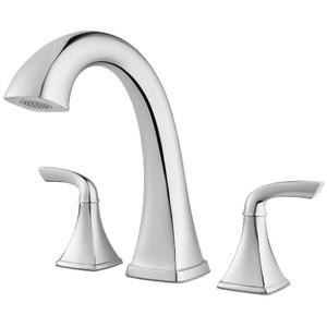 15-18 2 Handle Lever Roman Tub Faucet Polished Chrome