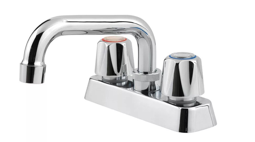 Not For Potable Use 2 Handle Laundry Faucet *PFIRST Polished Chrome