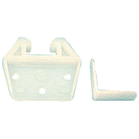 Prime Line R 7223 Drawer Track Guide and Glide, 2 in W, Polyethylene, White