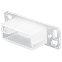 TRACK DRAWER BACK PLATE WHITE