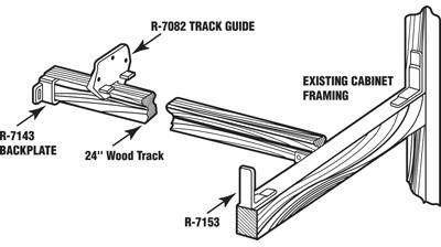 TRACK DRAWER KIT 24IN WOOD