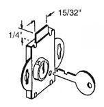 Prime-Line S 4048 Deadbolt Lock, Keyed, Steel, Brass