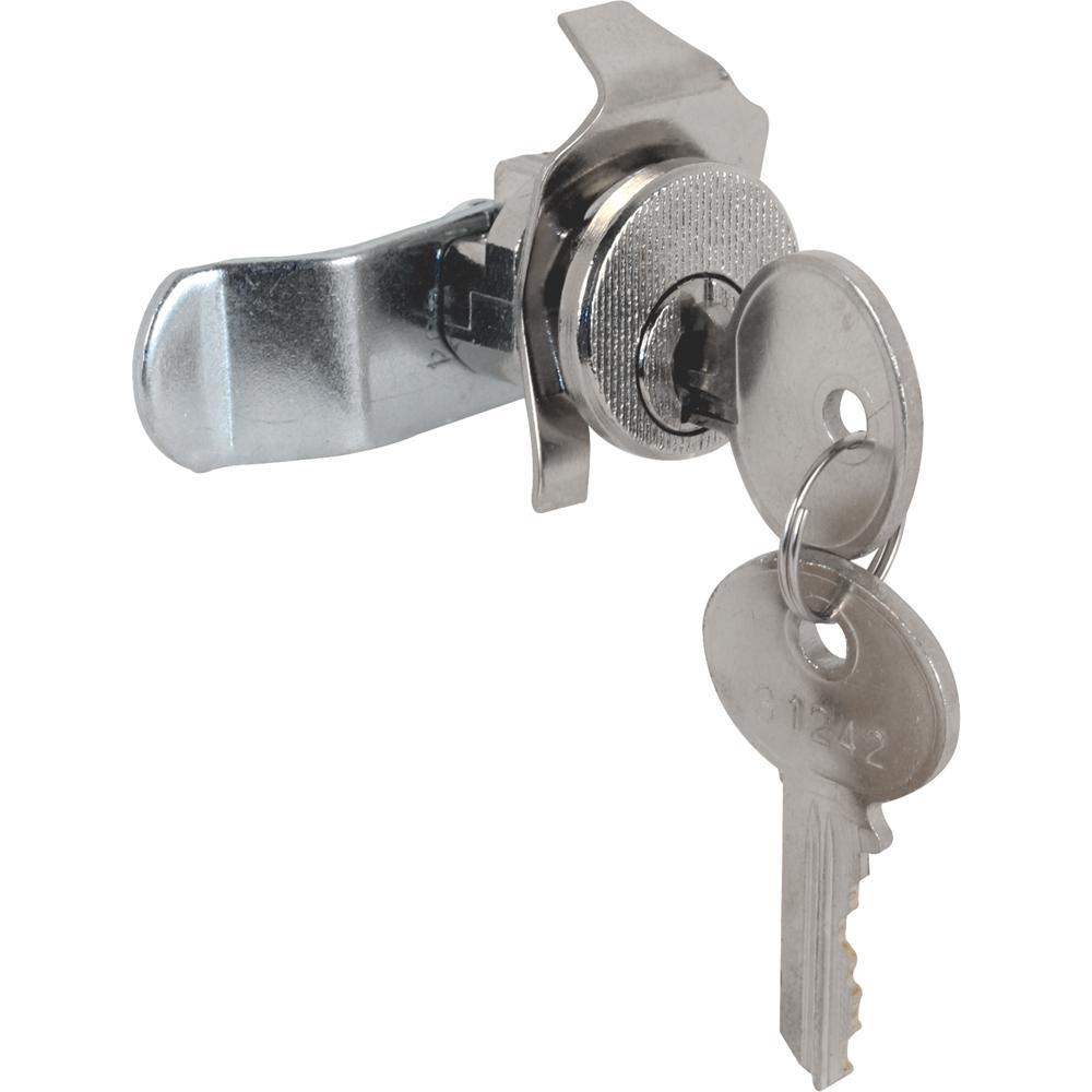 Prime-Line S 4125 Mail Box Lock, Keyed, Die Cast/Steel, Nickel Plated