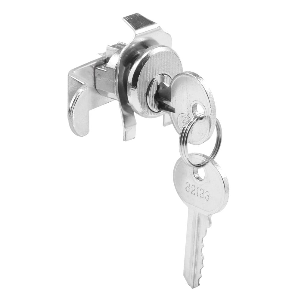 Prime-Line S 4128 Mail Box Lock, Keyed, Die Cast, Nickel Plated