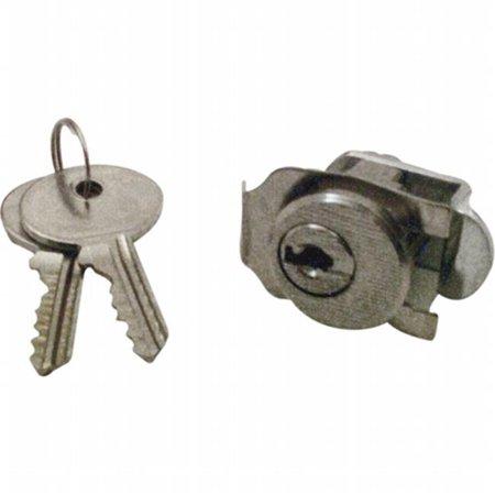 Prime-Line S 4130 Mail Box Lock, Keyed, Die Cast/Steel, Nickel Plated