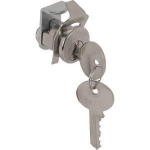 Prime-Line S 4134 Mail Box Lock, Keyed, Die Cast, Nickel Plated