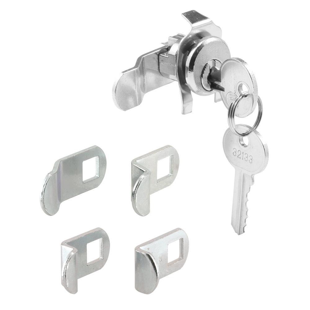 Prime-Line S 4140 Mail Box Lock, Keyed, Die Cast/Steel, Nickel Plated