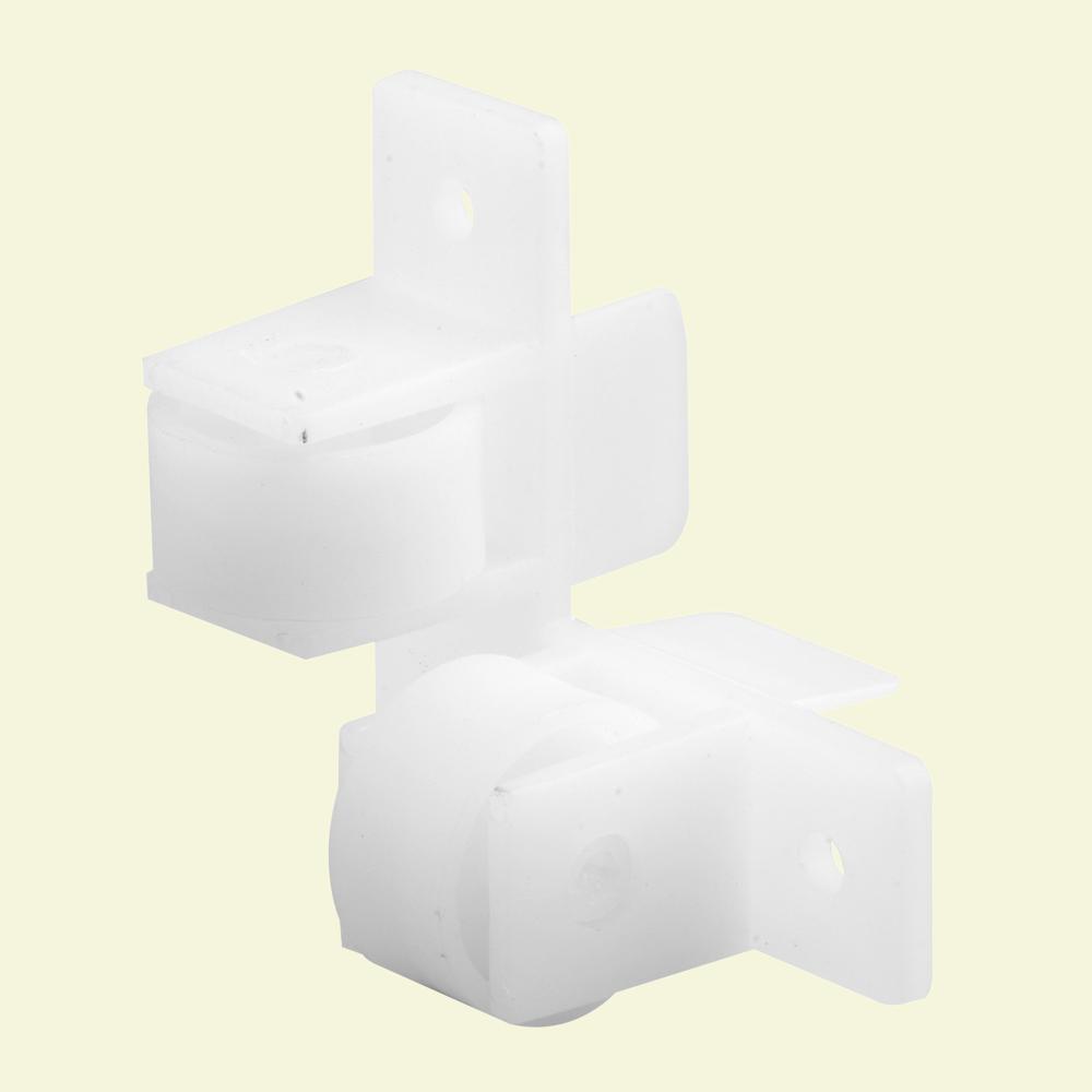Prime-Line R 7218 Flat Guide Twin Roller Assembly, Polyethylene, White