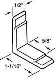 Prime Line R 7153 Angle Drawer Guide, 5-7/16 in L x 1/2 in W x 1-1/16 in H, Nylon, White