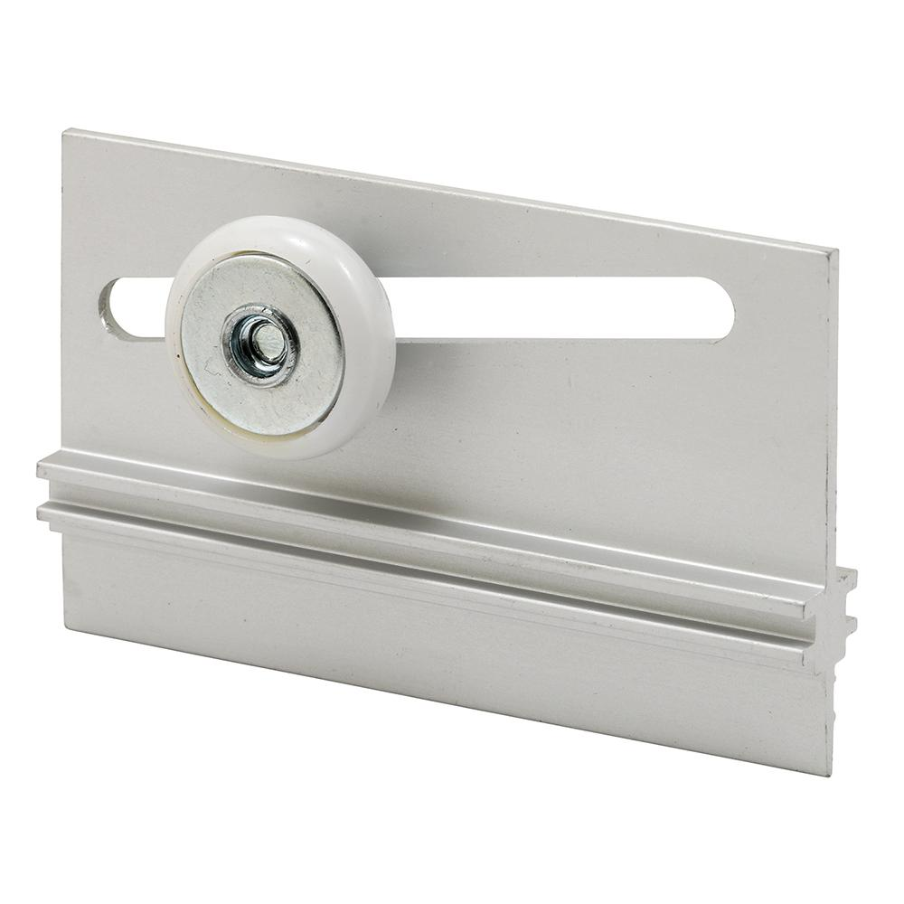 Prime-Line M 6055 Frameless Round Shower Door Top Bracket, 3/4 in OD Roller, Nylon Wheel, Aluminum Bracket