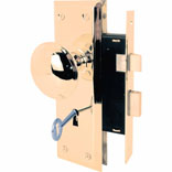 Prime-Line E 2293 Mortise Lock Set, Steel, Polished Brass