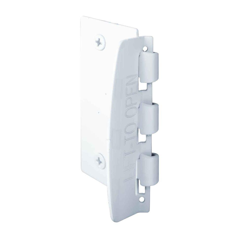 Prime-Line U 9888 Flip Action Bolt Lock, Steel, White
