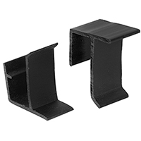 CLIP RETAIN SCREEN TOP/BTM BLK
