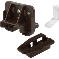Prime-Line R 7321 Drawer Track Guide and Glide, Plastic, Dark Brown