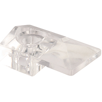 Prime-Line Reflections Modern Bevel Mirror Holder Clip, 1/4 in, Glass/Acrylic, Clear