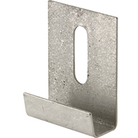 Prime-Line Reflections Heavy Duty J-Shaped Mirror Holder Clip, 1/4 in, Stainless Steel