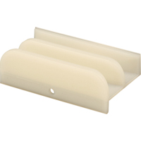 Prime-Line M 6219 Shower Door Bottom Guide Assembly, For Use With Framed Tub Enclosure Doors, Plastic