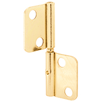 Prime Line N 6835 Door Shutter Hinge, 4 Hole, 1 in L X 7/8 in W Door Leaf, Steel